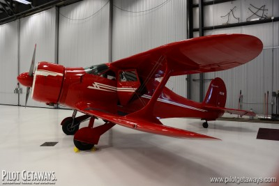 Staggerwing in the hangar