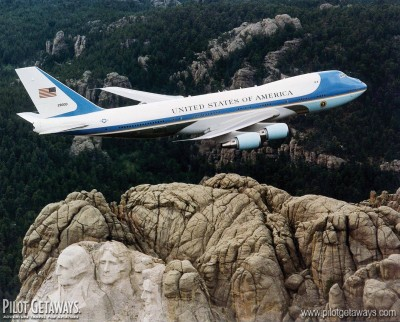 Mt. Rushmore & Air Force One