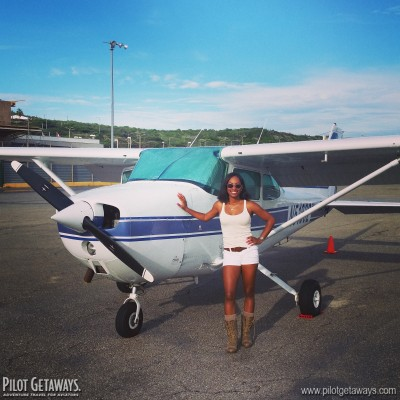 Kellee in Curacao at Falki Aviation