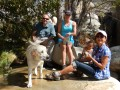 Group shot next to the swimming hole