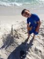 Small boy on the beach in Destin